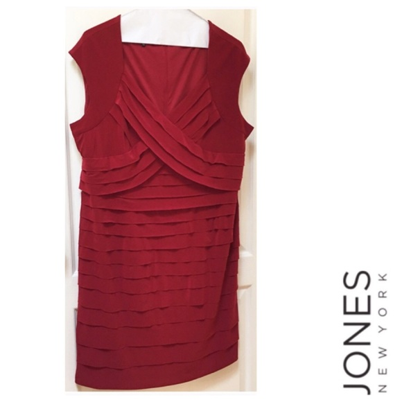 JONES NEW YORK Woman Red Plus Size 18W Knit Dress